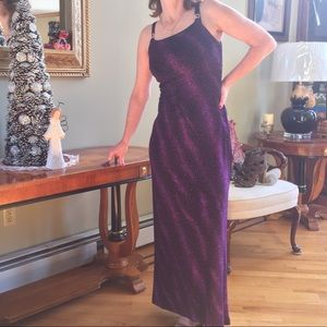 Long Purple Sparkle Gown